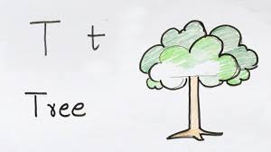 t for tree how to draw using alphabets fun with alphabets