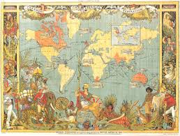 Show World Map by 1886 British Empire Map The Detailed Figures On The Sides Show