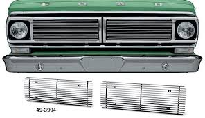 ford truck grilles billet grille set with 4mm bars 1970 72 f100 f250 lmc truck