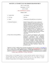 Tour Manager Job Description Careers U0026 Opportunities Housing Authority Birmingham District