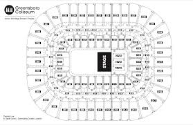 theater floor plan seating chart see seating charts module greensboro coliseum