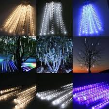 outdoor tube lighting stong 50cm 8 tubes 240 led meteor shower rain lights waterproof