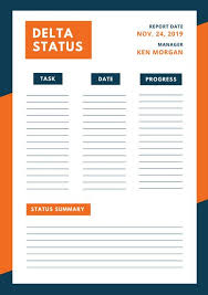 Project Status Report Template Excel Filetype Xls Project Status Report Template Blue Orange Simple Modern Project