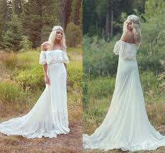 Boho Wedding Dresses Discount Sale Off The Shoulder Boho Wedding Dresses Short
