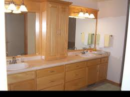 interesting decorating ideas using rectangular brown wooden vanity