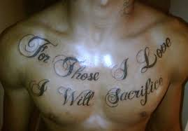word on chest