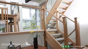 open tread stairs u0026 split level living area contemporary