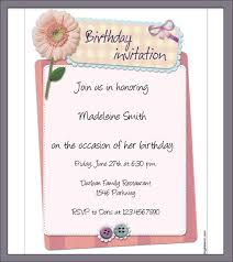 birthday invitation letter template 28 images it is important