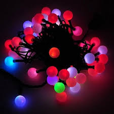 color changing linkable 16 feet christmas light string with 50 rgb