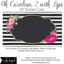 dyi blank business card template oh carolina 2 with lips