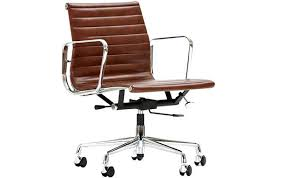 Tan Leather Office Chair Eames Style Office Chair U2013 Adammayfield Co