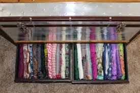 organizing scarver in drawer for small closet ideas