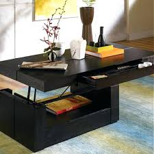 Square Lift Top Coffee Table Coffee Table With Lift Top Mechanism And Storage Drawer In Wenge
