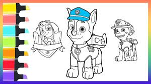 coloring book for nursery how to draw chase paw patrol dog coloring pages for kids nursery