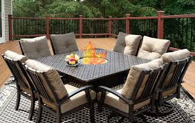 Square Patio Tables Square Patio Table For 8 Aytsaid Amazing Home Ideas