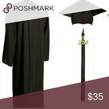 black graduation cap and gown black graduation cap and gown great condition cap gowns and tassels