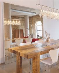 Mirror Dining Room Table Arc Floor Lamp Dining Room Contemporary With Wood Block Floor