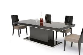 dining room tables contemporary noble modern ebony lacquer dining table dining modern and tables