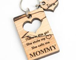 personalized wooden keychains keychain etsy