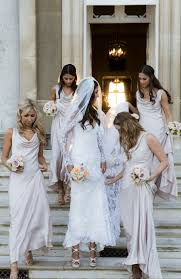 ghost wedding dress with my bridesmaids my dress and veil were by temperley and the