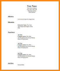 Fill In Resume Templates Blank Resume 14 Blank Resume Template For High Students