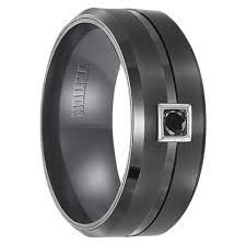 black wedding rings his and hers men s black tungsten wedding rings black wedding bands