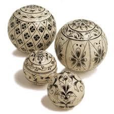 decorative painted balls polyvore