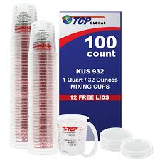 amazon com full case of 100 each 32 ounce paint mixing cups