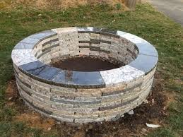 Granite Fire Pit by Fire Pit Dimensions Fire Pit Ideas