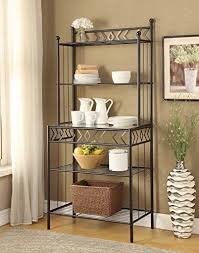 bakers rack with cabinet baker s racks amazon com