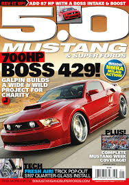 5 0 mustang magazine cover feature for january 2012 issue of 5 0 mustang fords