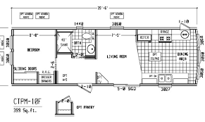 One Bedroom Trailer 25 Best One Bedroom Mobile Home Floor Plans Home Building Plans