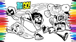 teen titans go coloring pages how to draw teen titans teen