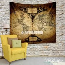 Vintage World Map Canvas by Vintage World Map Wall Art Shenra Com