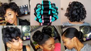 roller wrap hairstyle how to roller set hair roller setting tutorial 2017 relaxed