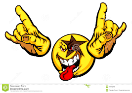 singing emoji rock emoticon stock vector image of cheerful button 16666985