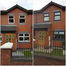 Green Upvc Front Doors by Coloured Upvc Windows Faroncrown Manchester
