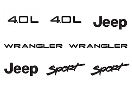 jeep wave stickers jeep wrangler sport vinyl stickers decals kit set of yj tj 4 0l
