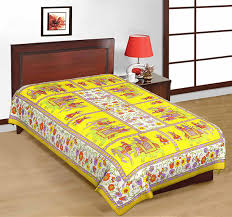 Cotton Single Bed Sheets Online India Buy Uniqchoice Rajasthani Traditional 100 Cotton 4 Single