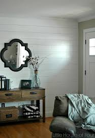 Entryway Wall Entryway Reveal Diy Plank Wall Tutorial Little House Of Four