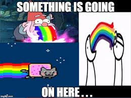 Nyan Cat Meme - will s rainbow meme something is going on here image