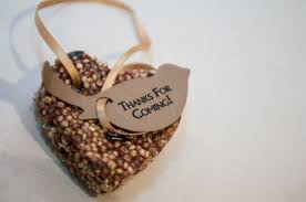 bird seed favors meaningful wedding favors