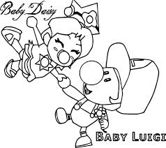 baby daisy baby luigi coloring wecoloringpage
