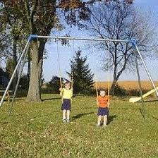 Backyard Swing Sets For Adults by Metal Swing Sets U0026 Swing Set Kits Commercial Grade Or