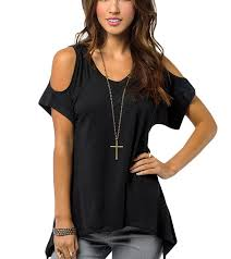 cold shoulder tops black v neck cold shoulder tops for juniors online store for