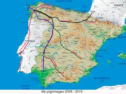Camino Frances Map by Camino De Santiago 2008 Buencamino