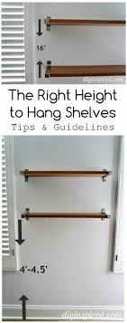 proper height to hang pictures the right height to hang shelves diy inspired
