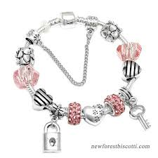 love heart charm bracelet images Spinner romantic love diy charm bracelet love heart key and lock jpg