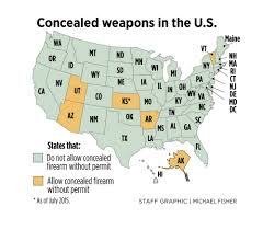 Constitutional Carry States Map Maine Senate Votes For Permit Free Concealed Handguns Portland