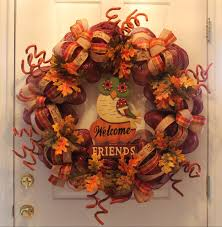 diy mesh thanksgiving wreath welcome friends the wreath depot